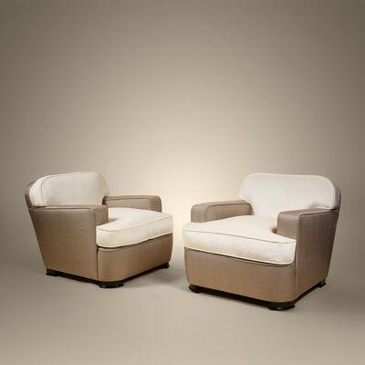 Jean Pascaud, 'Pair of armchairs', ca. 1940