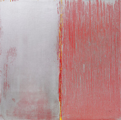 Pat Steir, 'Red and Silver', 2019