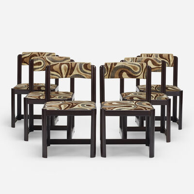 Unknown Italian, 'dining chairs, set of six', c. 1970