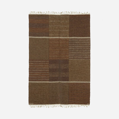 Marianne Richter, 'Tolv Rutor flatweave carpet', c. 1971
