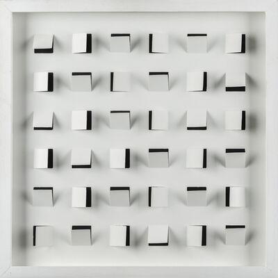 Edoardo Landi, 'Superficie a quadrati prospettici', 1966