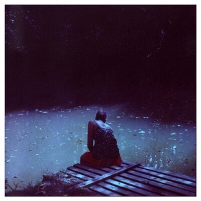 Cristina Fontsare, 'Alejandra- Contemporary, Polaroid, Photograph, Figurative, Childhood, 21st Century, Youth, Blue', 2014