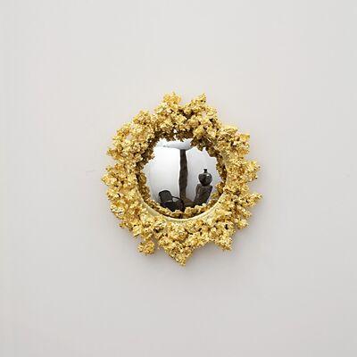 Michel Salerno, 'Golden Popcorn Handmade Mirror', 2014