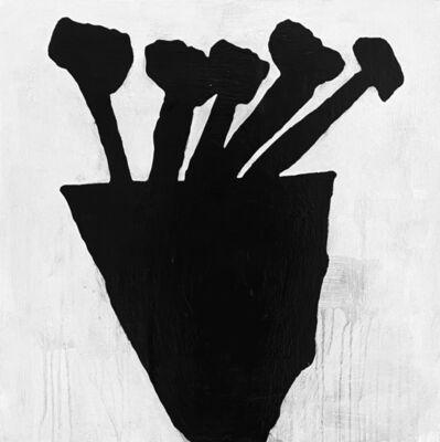 Donald Baechler, 'Black Flowers 10.2020', 2020