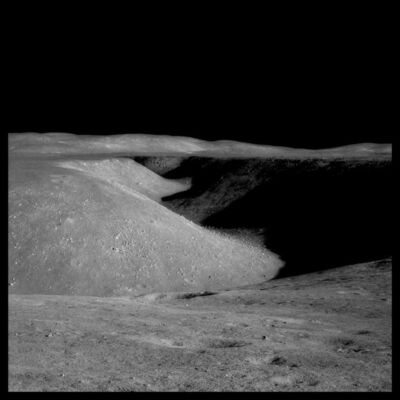 Michael Light, '072 Hadley Rille: 80 Miles Long, 1 Mile Wide  and 1000 Feet Deep; Photographed by James Irwin, Apollo 15, July 26-August 7, 1971', 1999