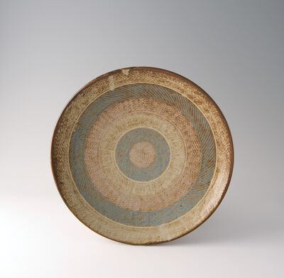 Tatsuzo Shimaoka, 'Plate, rope and slip inlay'