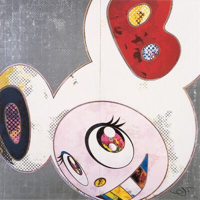 Takashi Murakami, 'DOB in Pure White Robe (Navy and Vermilion)', 2013