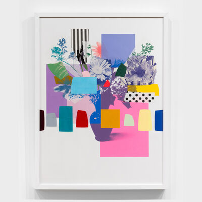 Emily Filler, 'Paper Bouquet (purple vase + purple flower)', 2020