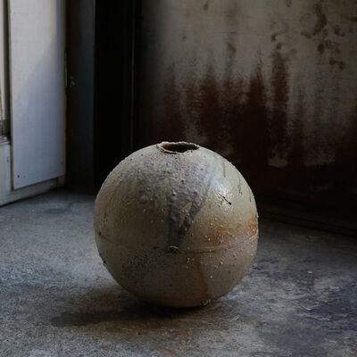 Shiro Tsujimura, 'Round Jar -natural ash graze- st00790', 1980-2010