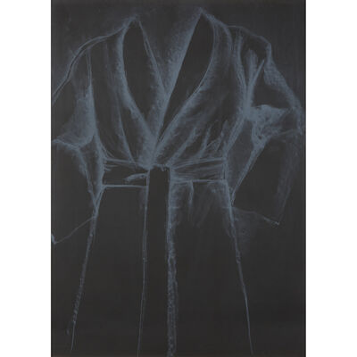 Jim Dine, 'White Robe on Black Paper', 1977