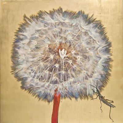 Hung Liu 刘虹, 'Dandelion - Grasshopper', 2017