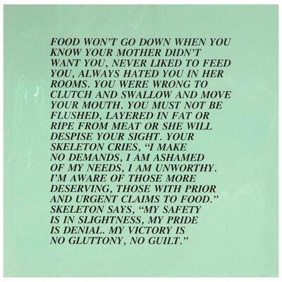 """Jenny Holzer, 'Food, """"Inflammatory Essay"""" (from Documenta 1982)', 1982"""