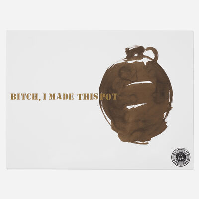 Theaster Gates, 'Bitch, I Made this Pot', 2013
