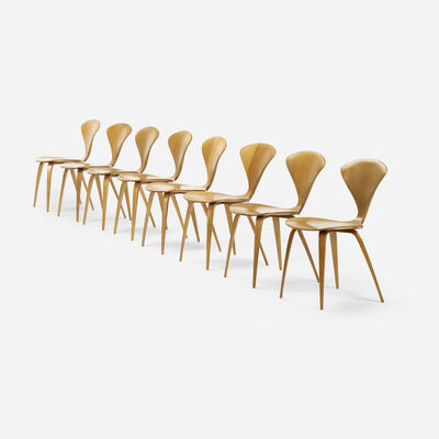 Norman Cherner, 'dining chairs, set of eight', 1958