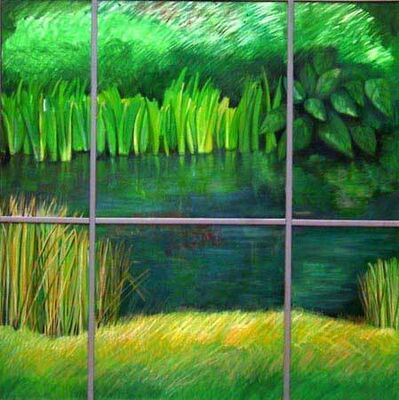Ellen Sinel, 'Pond Reflections  (dimensions provided are without frame)'