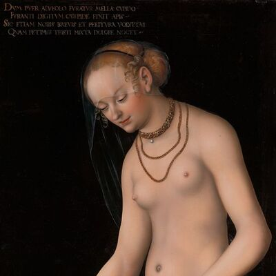 Lucas Cranach the Elder, 'Venus with Amor the honey thief', after 1537