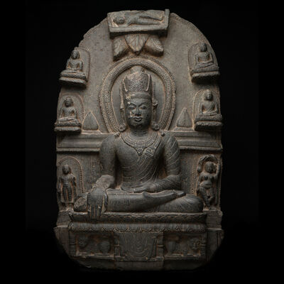 Unknown Indian, 'Pala-Sena Buddhist Stele Depicting the Life Story of the Buddha', Pala Period-c. 1100 A.D. to 1300 A.D.