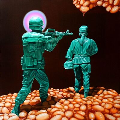 Jens Heller, 'UNTITLED (2 SOLDIERS WITH BAKED BEANS)', 2017