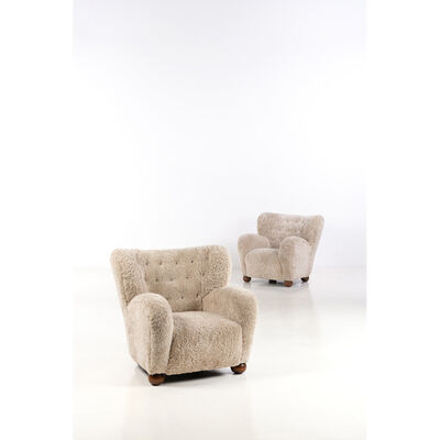 Marta Blomstedt, 'Wing Chai, Pair of armchairs', 1939