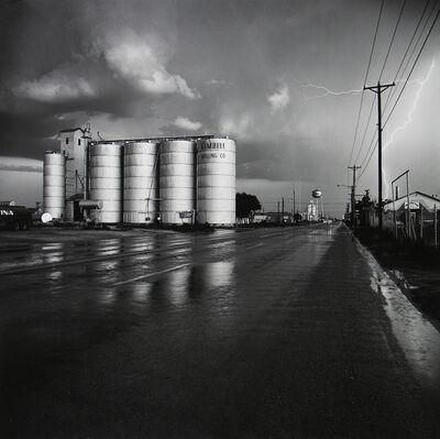 Frank Gohlke, 'Grain Elevator and Lightning Flash, Lamesa, Texas', 1975
