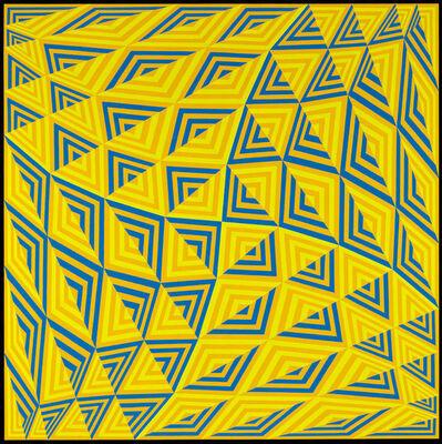 Jim Isermann, 'Sin título (Pantone Amarillo 124, Azul 285, Verde 3965)', 2011
