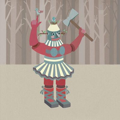 Sonia Klajnberg, 'Robot Lumberjack', 2014