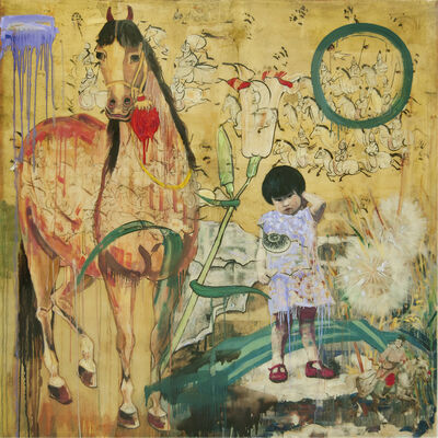 Hung Liu 刘虹, 'Warhorse', 2020