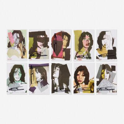Andy Warhol, 'Mick Jagger Sample portfolio (ten works)', 1975