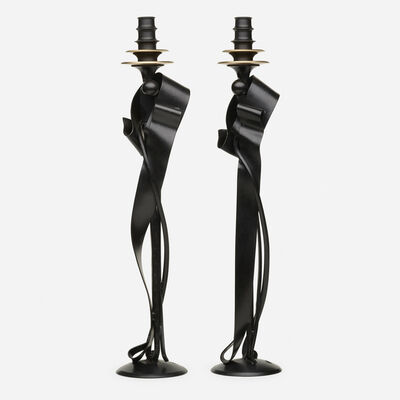 Albert Paley, 'Cloaked Nuance Candleholders, pair', 2019