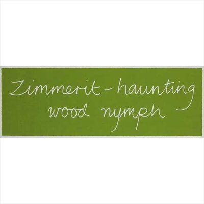 Ian Hamilton Finlay, 'Zimmerit - haunting wood nymph', 1992