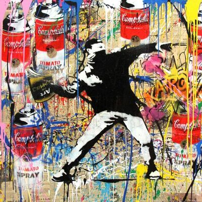 Mr. Brainwash, 'BANKSY THROWER', 2014