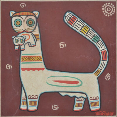 Jamini Roy, 'The Mother Cat and Kitten'