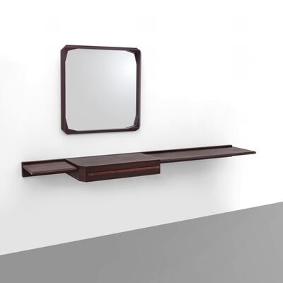 Dino Cavalli, 'A wall mounted console with a 'Cristallux' wall mirror'