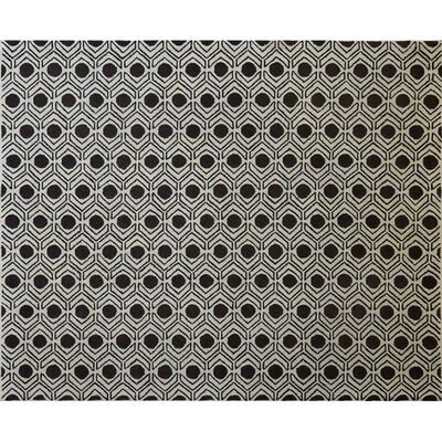 Attributed to David Hicks, 'Op Art wool area rug with overall geometric design', ca. 1960s