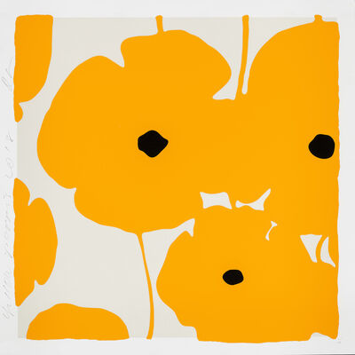 Donald Sultan, 'Yellow Poppies', 2018