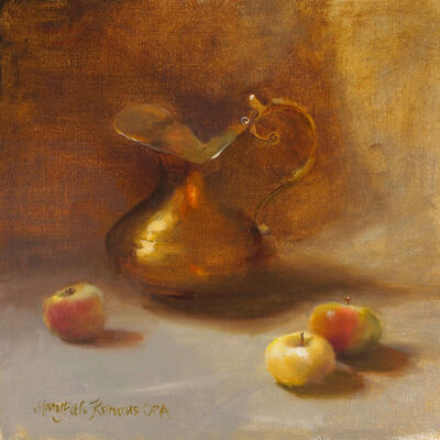 Mary Beth Karaus, 'Apples and Brass Pitcher', 2019
