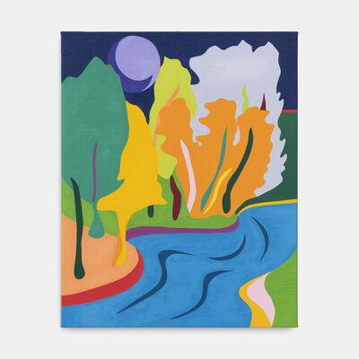 Tessa Perutz, 'Bois de la Cambre at Nightfall in Neon', 2019