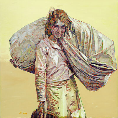 Hung Liu, 'Cotton Carrier ', 2018