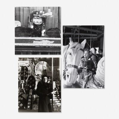 Louis Stettner, 'Imed plus Cat, Paris, 1951; Uptown on Broadway, 1946; Merry Go Round, Paris, 1951 (three works)', 1946-1951