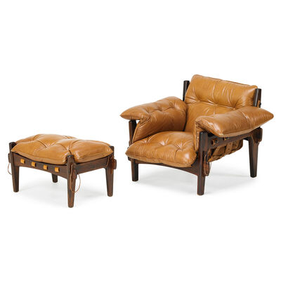 Sergio Rodrigues, 'Mischievous Lounge Chair And Ottoman, Brazil', 1960s