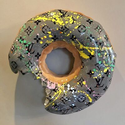 Eva Post Ruben Verheggen, 'BIG wall Donut - LV Special Grey', 2018