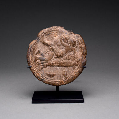 Unknown Roman, 'Roman Lead Erotic Plate', 100 AD to 300 AD