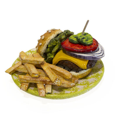 Betty Spindler, 'Burger on a Plate with Fries', 2020