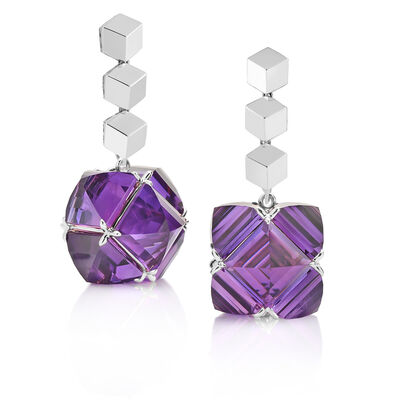 Paolo Costagli, '18kt White Gold Brillante and Amethyst 'Very PC' Earrings', 2019