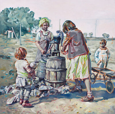 Hung Liu, 'Fetching Water I'