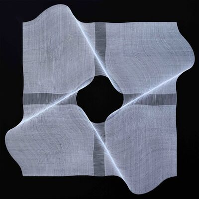 Roberto lucchetta, 'Dynamic structure - geometric abstract painting ', 2020