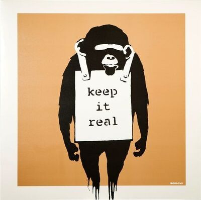 Banksy, 'Keep It Real (Gold)', 2008