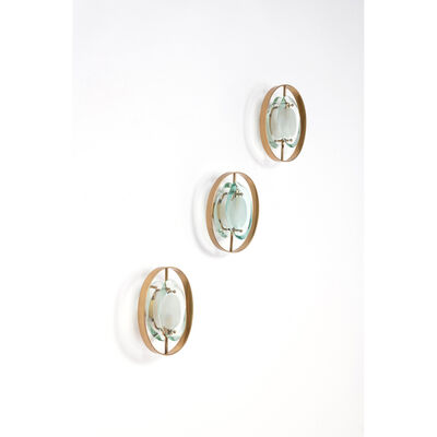 "Max Ingrand, 'Model 2240 ""Micro"", Set of three wall lamps'"