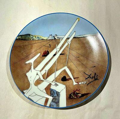 Salvador Dalí, 'Dali Martien muni d'un double microscope Holo-électrique', 1984