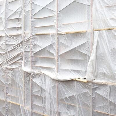 Chris Shepherd, 'White Tarped Scaffolding', 2018